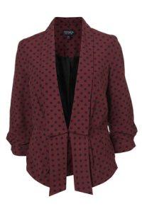 Topshop Polka Dots Spot Print Jacket